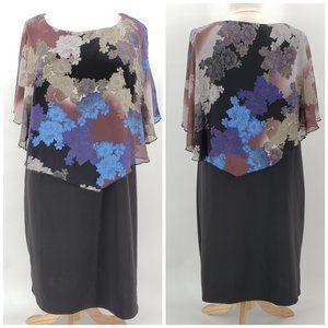 NWT Mlle Gabrielle Black & Multicolor Dress 3X